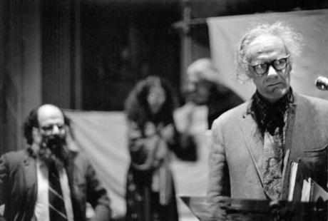 Poet Robert Lowell (right, with Allen Ginsberg).